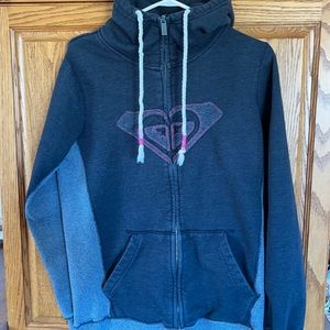 Roxy hoodie style zip up size XL.
